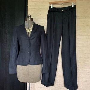 Club Monaco Gray Wool Pinstripe Pant Suit
